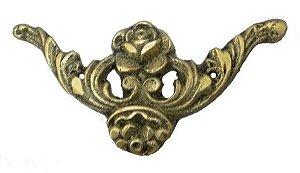 Aplique Em Bronze Móveis Floral Criado Luís Xv Cômoda Arcas*