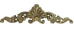 Aplique Em Bronze Para Arcas Cristaleiras Cômodas Mesas Móveis