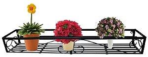 Floreira De Janelas Em Ferro Vasos Flores Folhagens Plantas 60 Cm