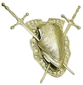 Armadura Medieval Em Bronze Parede Decoração Presentes