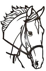 Painel Cara De Cavalo Artesanal Em Ferro Haras 50 X 37 Cm Na Cor Preta