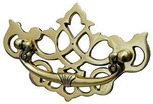 Puxador Em Bronze Coroa Artesanal Maravilhoso Móveis Par