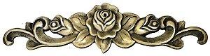 Aplique Em Bronze Móveis Floral Grande 34 X 9 Cômoda Flores*