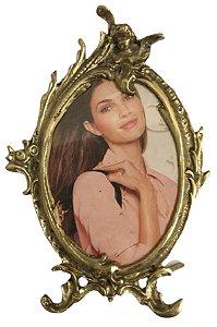 Porta Retrato Em Bronze Foto Namorado Mãe Decoração Presentes*