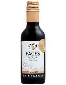 VINHO LIDIO CARRARO FACES DO BRASIL MERLOT 2019 187,5ML