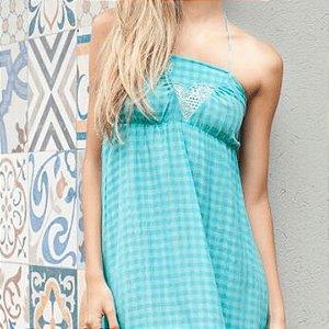 Vestido longo Soltinho V Azul