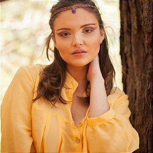 Vestido Amplo  Amarelo