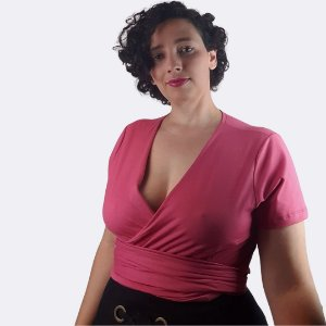Blusa Transpassada Color Rosa