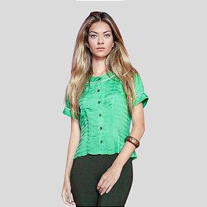 Camisa Corte Reto Verde