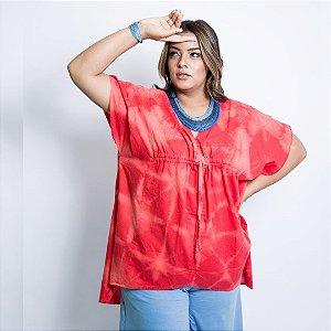 kimono Bandage vermelho algodão