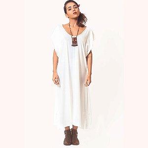 Vestido Midi Algodão Off White