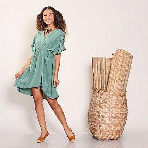Kimono Casulo Seda Verde