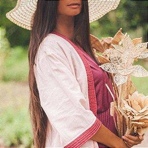 Kimono Renda Bordo