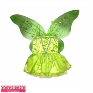 Fantasia Fada Green Alças Infantil