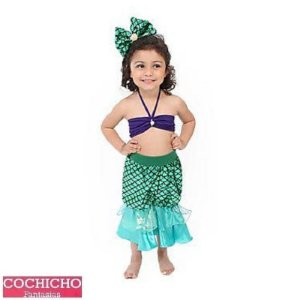 Fantasia Sereia Verde Top Infantil