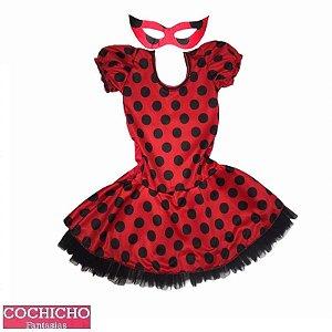 Fantasia Joaninha Vestido Infantil