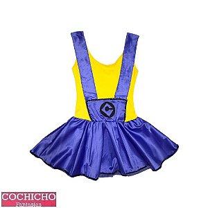 Fantasia Mascote Amarelo Vestido Infantil