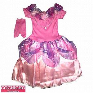 Fantasia Fada Princesa Estrelas Baby