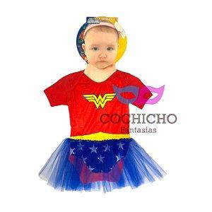 Fantasia Mulher Maravilha Sulamericana Body Baby