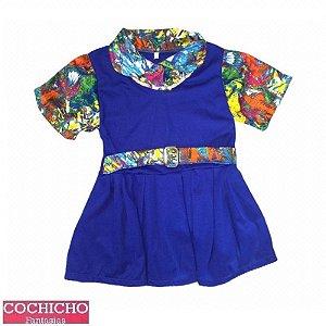Fantasia Uniforme Azul Infantil