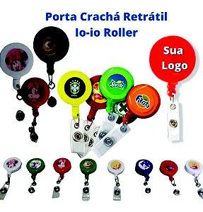 50 Porta Crachá Personalizado Roller Clip