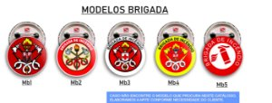 100 Botons Brigada de Incêndio 2,5 cm