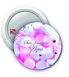 100 Botons Espelho Personalizado 5,5 cm