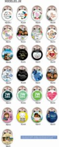 10 Botons Americanos Personalizados Congresso JW 3,5 cm