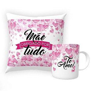 10 Kits Almofada e caneca personalizada Dia das Mães