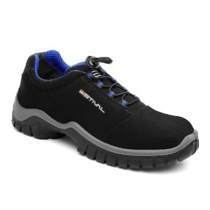 Sapato de Segurança Estival Bico de PVC En1002 Preto/Azul CA 44592