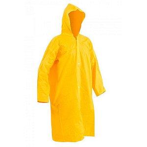 Capa de Chuva em PVC Forrada Ecopoli Amarela CA 33304