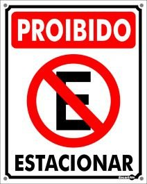 Placa Proibido Estacionar PS01 20X30cm