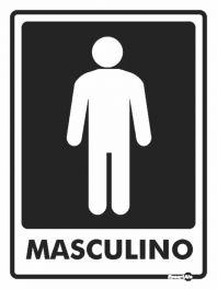Placa Masculino PS66 20X15CM