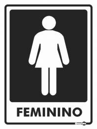 Placa Feminino PS65 15X20