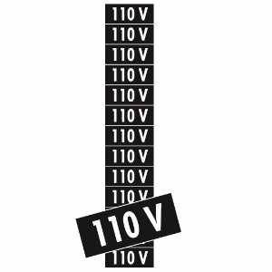 Placa Adesivo 110v Ps74 3,5x1,0 13 Unidades