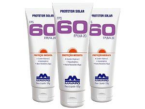 Protetor Solar Mavaro FPS 60 120GR Kit com 3