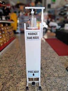 Totem Dispenser de Álcool Gel com Pedal 1 Litro