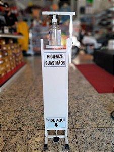 Totem Dispenser de Álcool Gel com Pedal 1 Litro Caixa com 5 unidades