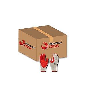 Luva Sup. Textil S.Safety 1012-SSRUBBER Caixa com 12 pares CA 34370