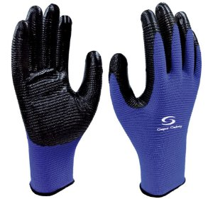 Luva Têxtil Com Banho Nitrílico Na Palma Mulititato Azul Super Safety SS1006N CA 32038