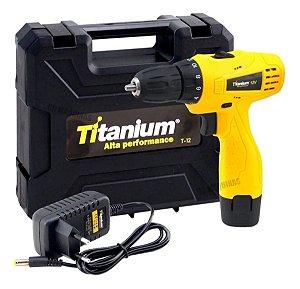 Parafusadeira/Furadeira Titanium 12v Bivolt T12
