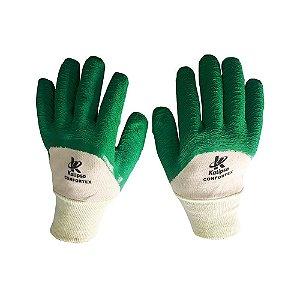 Luva Tricotada com Látex Kalipso Confortex Verde CA 11127