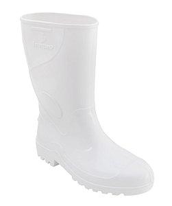 Bota PVC Impermeável Innpro Cano Médio Branco CA 36025