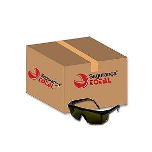 Óculos de Segurança Kalipso Jaguar Verde Escuro IR5 Caixa com 12 CA 10346