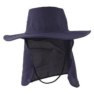 Chapéu Pescador Árabe Com Protetor Nuca Azul