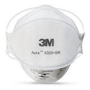 Respirador 3m Aura 9320+Br PFF2 N95 Sem Válvula com 10 Peças
