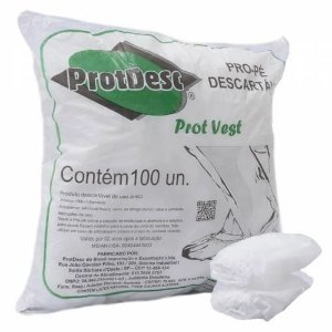 Protetor De Pé Descartável Protdesc 100un Branca