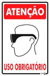 Placa Uso Obrigatório De Óculos 20 x 30 PS81