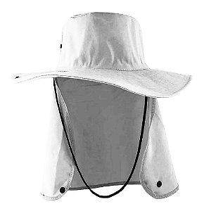 Chapéu Pescador Árabe Com Protetor de Nuca Cinza Brim
