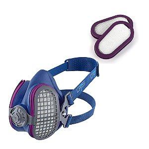 Kit Respirador Semi Facial Elipse GVS SPR501 M/G Filtro P3 + Par de Filtros